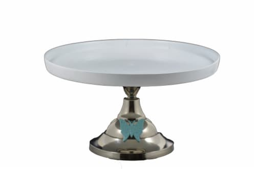 Vibhsa Butterfly Designer Cake Stand - White Perspective: front