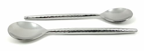 Vibhsa Stainless Steel Tablespoons 6 Piece - Silver Glossy Perspective: front