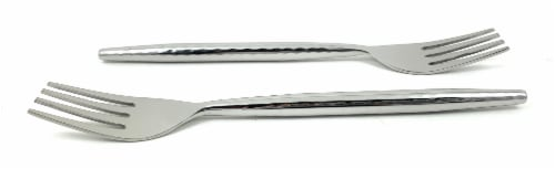 Vibhsa Stainless Steel Salad Appetizer Forks Set - Glossy Silver Perspective: front