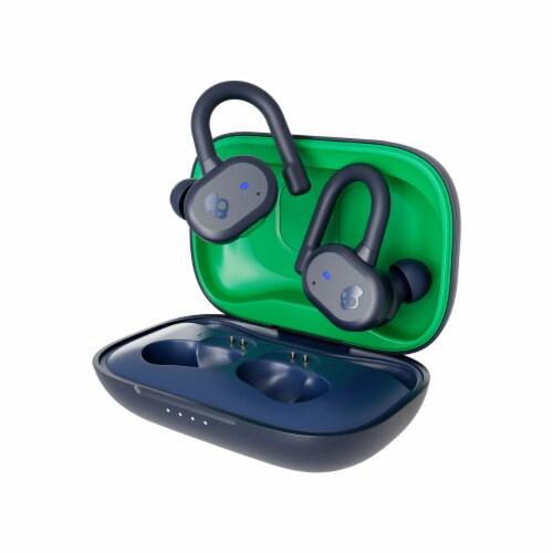 Skullcandy Push Active True Wireless Earbuds - Navy/Green Perspective: front