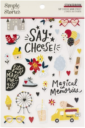 Simple Stories Sticker Book 12/Sheets-Say Cheese Main Street Perspective: front