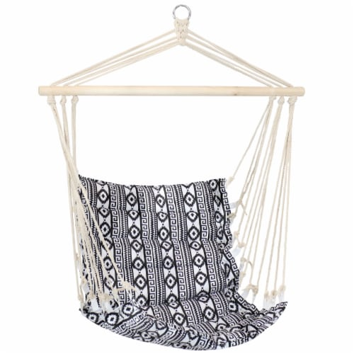 Sunnydaze Padded Polycotton Hammock Chair - Ancient Tribal Print Perspective: front