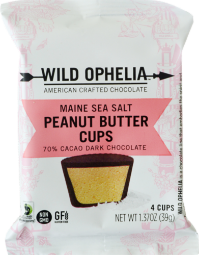 Wild Ophelia Maine Sea Salt Peanut Butter Cups Perspective: front