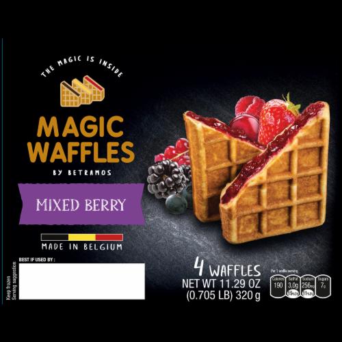 Betramos Mixed Berry Magic Waffles Perspective: front
