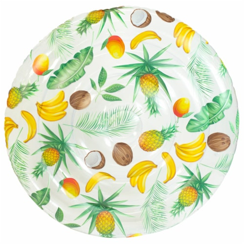 PoolCandy Clear Tropical Pattern Giant Island Float Perspective: front