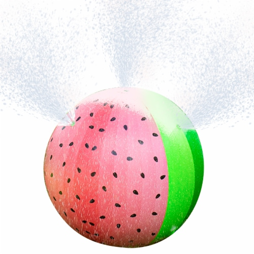 PoolCandy Giant Inflatable Watermelon Sprinkler Perspective: front