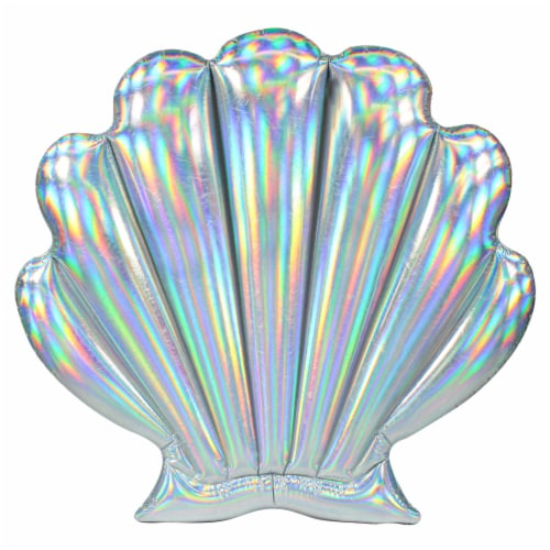 PoolCandy Mermaid Collection Oyster Shell Float Perspective: front