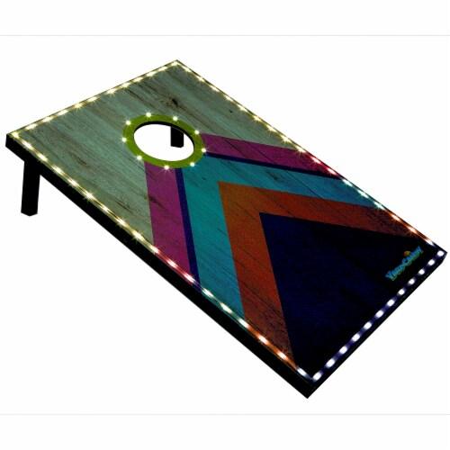 PoolCandy YardCandy Illuminated LED Cornhole Perspective: front