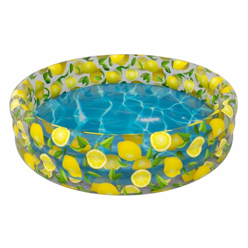 PoolCandy Lemon Inflatable Sunning Pool Perspective: front