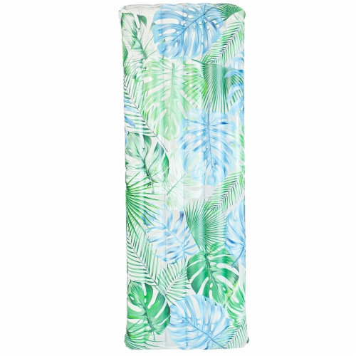 PoolCandy Palm Print Deluxe Pool Raft Perspective: front