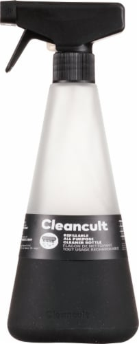 Cleancult Black Glass All Purpose Cleaner Bottle Perspective: front