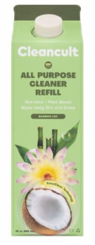 Cleancult Bamboo Lily All Purpose Cleaner Refill Perspective: front