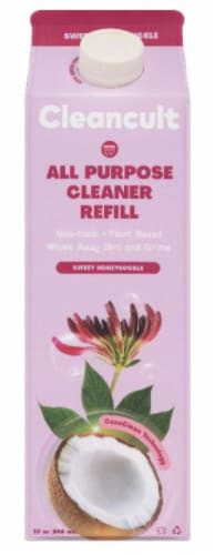 Cleancult Sweet Honeysuckle All Purpose Cleaner Refill Perspective: front