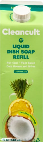 Cleancult Lemongrass Liquid Dish Soap Refill Perspective: front