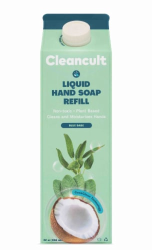 Cleancult Blue Sage Scent Liquid Hand Soap Refill Perspective: front