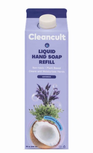 Cleancult Lavender Scent Liquid Hand Soap Refill Perspective: front