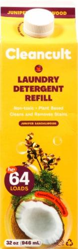 Cleancult Juniper Sandalwood Liquid Laundry Detergent Refill Perspective: front