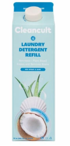 Cleancult Sea Spray & Aloe Liquid Laundry Detergent Refill Perspective: front