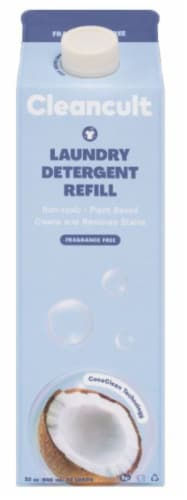 Cleancult Fragrance Free Liquid Laundry Detergent Refill Perspective: front