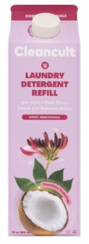 Cleancult Sweet Honeysuckle Liquid Laundry Detergent Refill Perspective: front