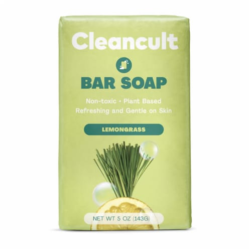 Cleancult Lemongrass Scented Bar Soap Perspective: front