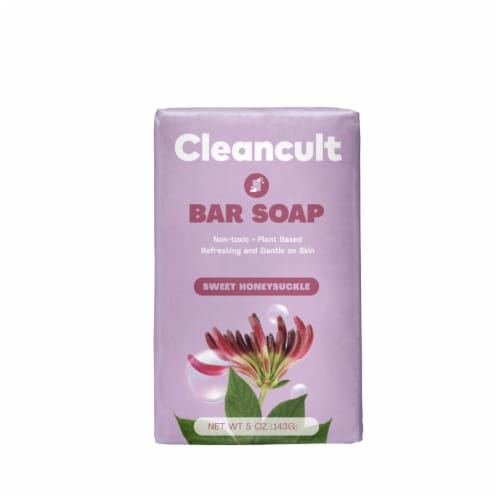 Cleancult Sweet Honeysuckle Scented Bar Soap Perspective: front