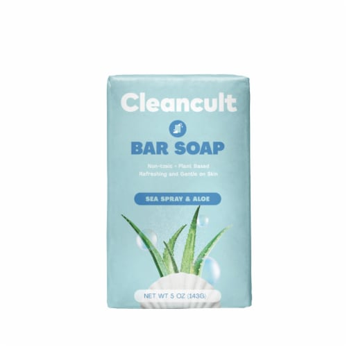 Cleancult Sea Spray and Aloe Scented Bar Soap Perspective: front