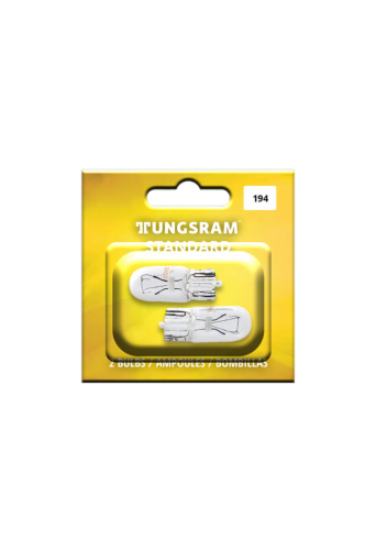Tungsram 194/BP2 Auto Bulb 2 Pack Perspective: front