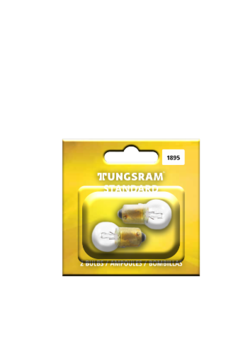 Tungsram 1895/BP2 Auto Bulb 2 Pack Perspective: front