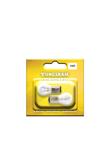 Tungsram 1157/BP2 Auto Bulb 2 Pack Perspective: front