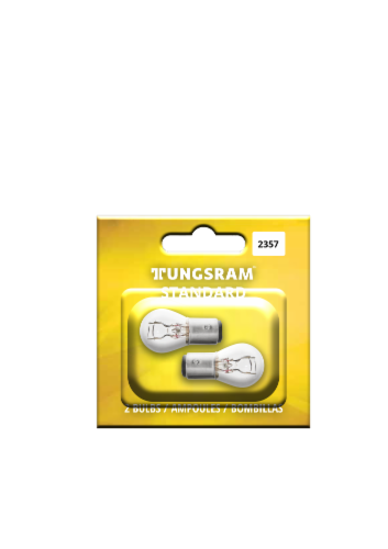 Tungsram 2357/BP2 Auto Bulb 2 Pack Perspective: front