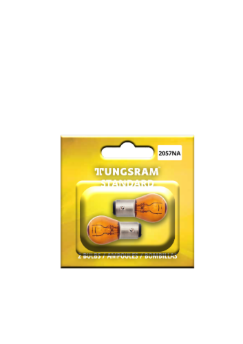Tungsram 2057NA/BP2 Auto Bulb 2 Pack Perspective: front