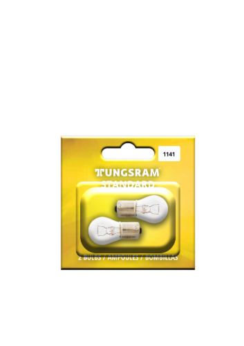 Tungsram 1141/BP2 Auto Bulb 2 Pack Perspective: front