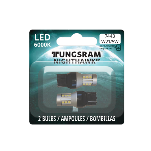 Tungsram W21/5W 7443 LED Auto Bulb 2 Pack Perspective: front