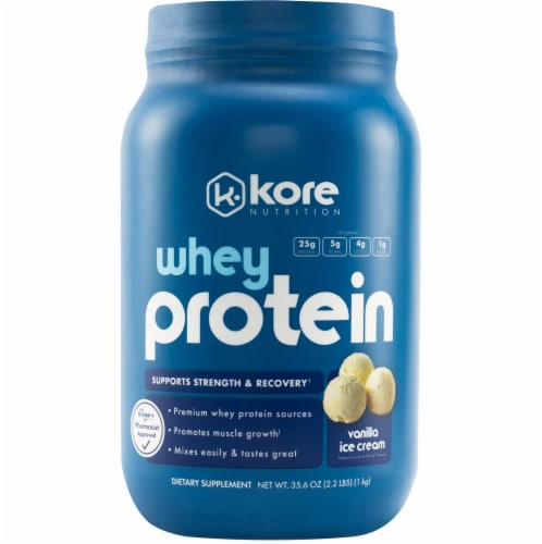 Kore Nutrition Natural Vanilla Whey Protein Perspective: front