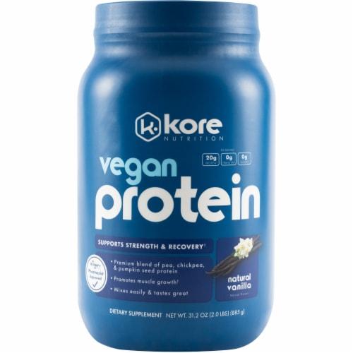 Kore Nutrition Vanilla Vegan Protein Perspective: front