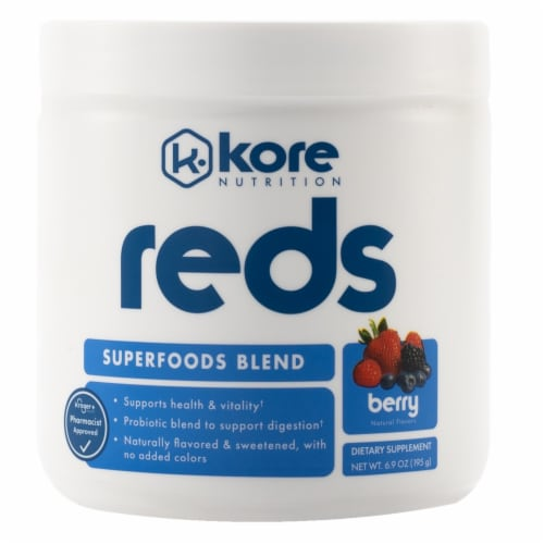 Kore Nutrition Berry Reds Superfood Blend Perspective: front