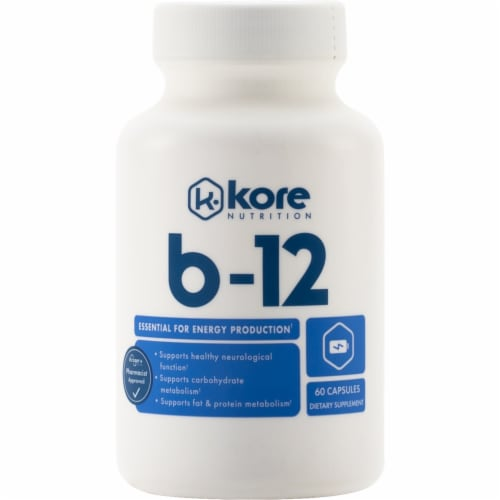 Kore Nutrition B-12 Capsules 2mg Perspective: front