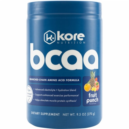 Kore BCAA Fruit Punch Dietary Supplement Perspective: front