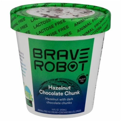Brave Robot Hazelnut Chocolate Chunk Non-Dairy Frozen Dessert Perspective: front