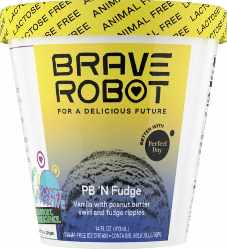 Brave Robot PB 'N Fudge Animal-Free Ice Cream Perspective: front
