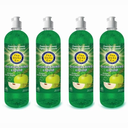 The Ohso Co. 33.8oz Dish Soap - Green Apple Perspective: front