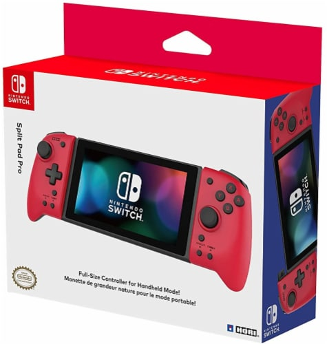 Hori Split Pad Pro Full-Size Controller for Handheld Model Nintendo Switch - Red Perspective: front