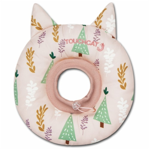 Licking and Scratching Adjustable Pillow Cat Neck Protector - Small / Pink Perspective: front