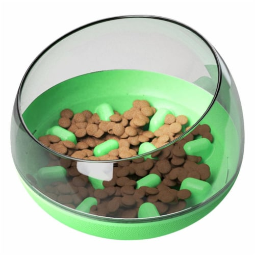 Pet Life  'Tumbowl' Slow Feeding Pet Bowl - One Size / Green Perspective: front