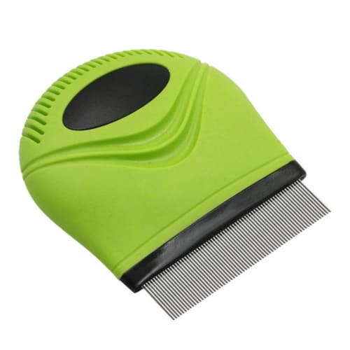 Handheld Travel Grooming Cat and Dog Flea and Tick Comb - One Size / Green Perspective: front