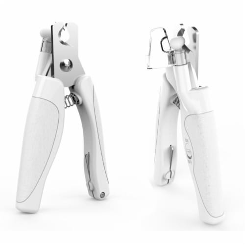 LED Lighting and USB Charging Precision Cat & Dog Nail Clipper - One Size /White Perspective: front
