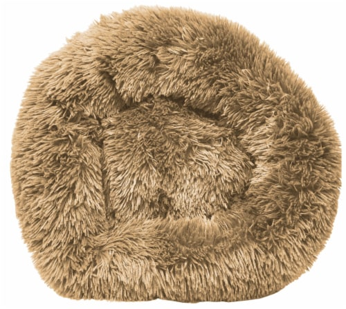 Pet Life  'Nestler' High-Grade Plush and Soft Rounded Dog Bed - Medium / Beige Perspective: front