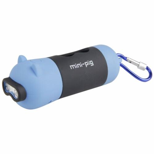Pet Life  'Oink' LED Flashlight and Waste Bag Dispenser - One Size / Blue Perspective: front