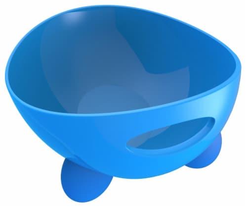 Pet Life 'Modero' Dishwasher Safe Modern Tilted Dog Bowl, Blue Perspective: front